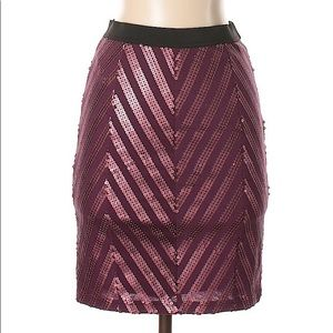 FREE PEOPLE | CHEVRON SEQUINED HIGH WAISTED SKIRT